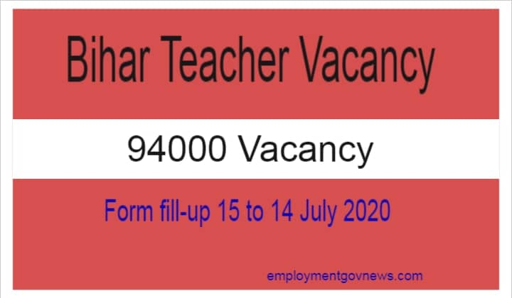 Bihar Teacher Vacancy