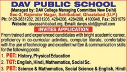 Teacher Vacancy in DAV Public School Sahibabad 2021