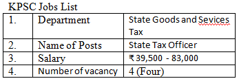 KPSC Jobs In Income Tax Department 2021