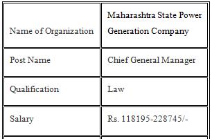 Mahagenco Recruitment 2021 Mahagenco Jobs Apply Now
